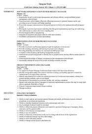 sle resume cost accounting managerial approaches to implementing project implementation manager resume sles velvet jobs