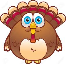 a cartoon fat turkey that is brown in color royalty free cliparts