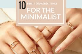 dainty engagement rings dainty engagement rings for the minimalist soonlywed inc