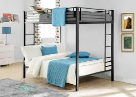 Loft Beds With Futon And Desk Bedroom Good Looking Powell Z Bedroom Full Size Metal Loft Bed