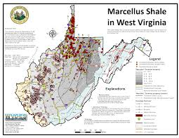 Map West Virginia by Marcellus Shale Gas Wells Extensive In West Virginia Map