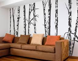 silver birch trees vinyl wall sticker contemporary wall stickers