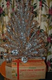 decorated tabletop tree foter