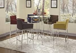 bar height glass table the brilliant along with stunning bar height glass dining table