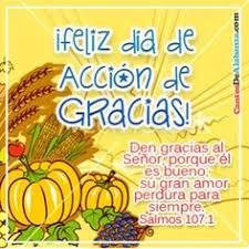 deseandoles un feliz dia de accion de gracia todos los días
