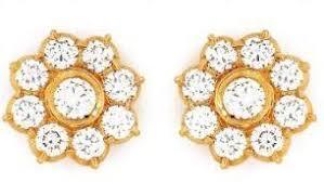 earrings in grt traditional nine diamond earrings in chennai tamil nadu