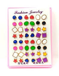 plastic stud earrings in plastic earrings women jewellery