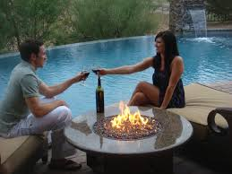 malibu patio furniture set granite gas fire pit table