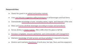 Job Description For Bartender On Resume by Bartender Resume Sample U0026 Complete Guide 20 Examples