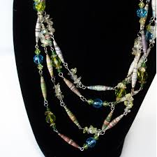 necklace from beads images Necklace from paper beads jpg