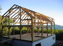 Gambrel Barns by Timber Frame Construction Featuring Framing Styles