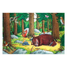 non woven wallpaper gruffalo nap the forest mural wide