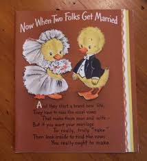 wedding vow cards vintage 1950 s wedding card 1950 s humorous groom