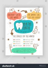 template brochure flyer presentation healthy dental stock vector