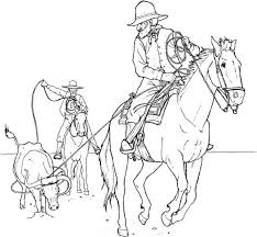cowboy coloring pages 1 coloring kids