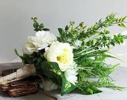 Wedding Flowers Greenery Boho Bouquet Etsy