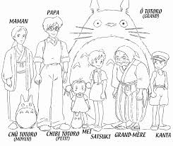 mon voisin totoro coloriage coloring pages pinterest totoro