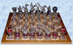 fantasy chess set pewter chess sets by pewter manor