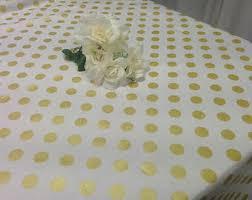 gold polka dot table cover polka dot tablecloth etsy