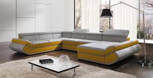 canap gris design canapé d angle convertible genese xl gris et jaune lecoindumeuble