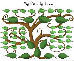 artistic blank printable family tree template for the big family