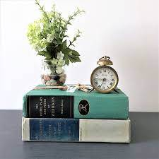 Home Decor Ebay Farmhouse Vintage Books Decorative Book Stack Books Stack For