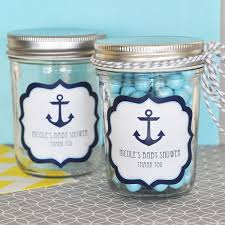 anchor theme baby shower nautical baby shower personalized mini jars