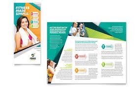 fitness flyer template fitness trainer brochure template design