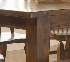 Broyhill Dining Room Attic Heirlooms Rustic Oak Rectangular Leg Dining Table By