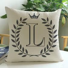 Home Decor Letters Cartoon English Letters Print Sofa Pillow Cushion Pillowcase Home