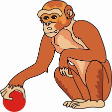 monkey coloring pages kids color print