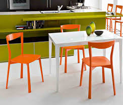 Modern Luxury Dining Table Fabulous Orange Kitchen Chairs And Decorative Expandle Glass