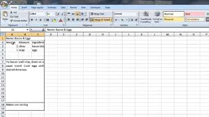 how to create a recipe template in word u0026 excel computer tips