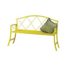 austram griffith creek designs 56 in metal patio bench royal blue