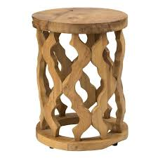 round wood accent table brown round teakwood accent table