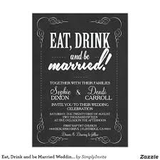 eat drink and be married invitations eat drink and be married wedding invitation wedding eat drink