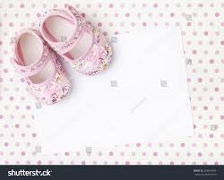 Invitation Blank Card Stock Blank Invitations Card Pink Floral Baby Stock Photo 250654654