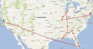 Megabus Route Map by A Whirlwind Trip Around America U2026 Drewnicki Explains It All