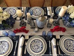 New Year S Eve Dinner Decoration by Blue And White Table Setting For New Year U0027s Eve