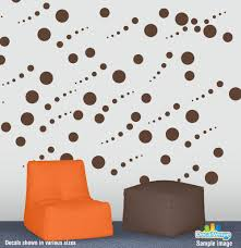 tiger paw print vinyl decal a1109102 3 47 decal rocket chocolate brown circle polka dot wall decal stickers