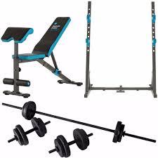 squat rack workout bench barbell dumbell set mens health