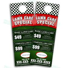 Landscaping Lawn Care by Lawn Care Door Hanger Design 3 U2013 The Lawn Market