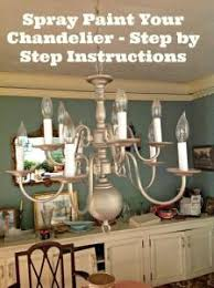 Diy Vintage Chandelier Diy Revamp An Outdated Chandelier Spray Painting Chandeliers