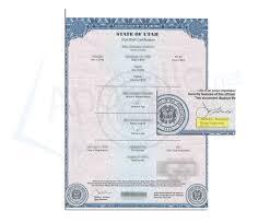 Birth Certificate Correction Sle Letter Utah Apostille Apostille Service By Apostille Net