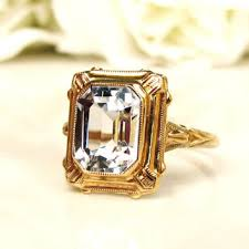 vintage emerald cut engagement rings shop emerald cut vintage engagement rings on wanelo
