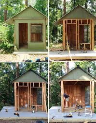 amazing kids u0027 playhouse built from an old backyard shed