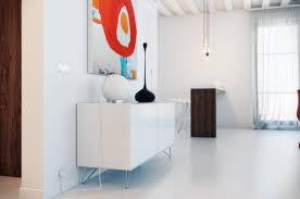 White Loft Dashingly Colorful Loft Design