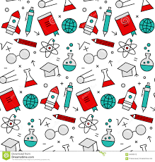 science elements seamless icons pattern stock vector image