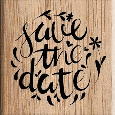 Save The Date Stamp Save The Date Wedding Stamp 3 8 X 3 8 Cm Hobbycraft