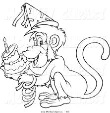 royalty free outline stock monkey designs